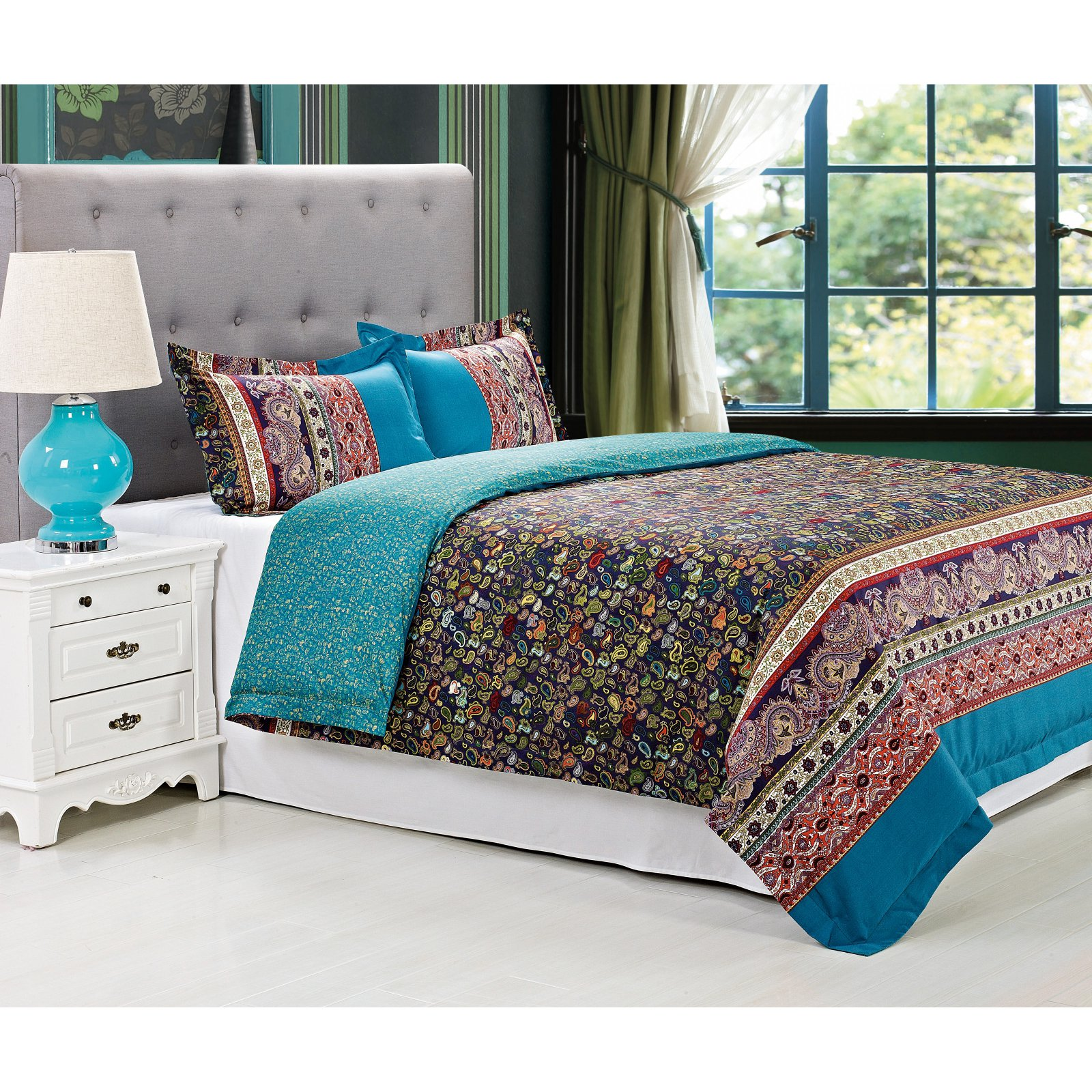 Rosewood 3 Piece Duvet Cover Set by Superior