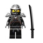 LEGO Minifigure - Ninjago - COLE the Black Ninja with Shamsir Sword