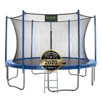 Outdoor Heights 7.5 ft Round Trampoline Set with Safety Enclosure System - Blue
