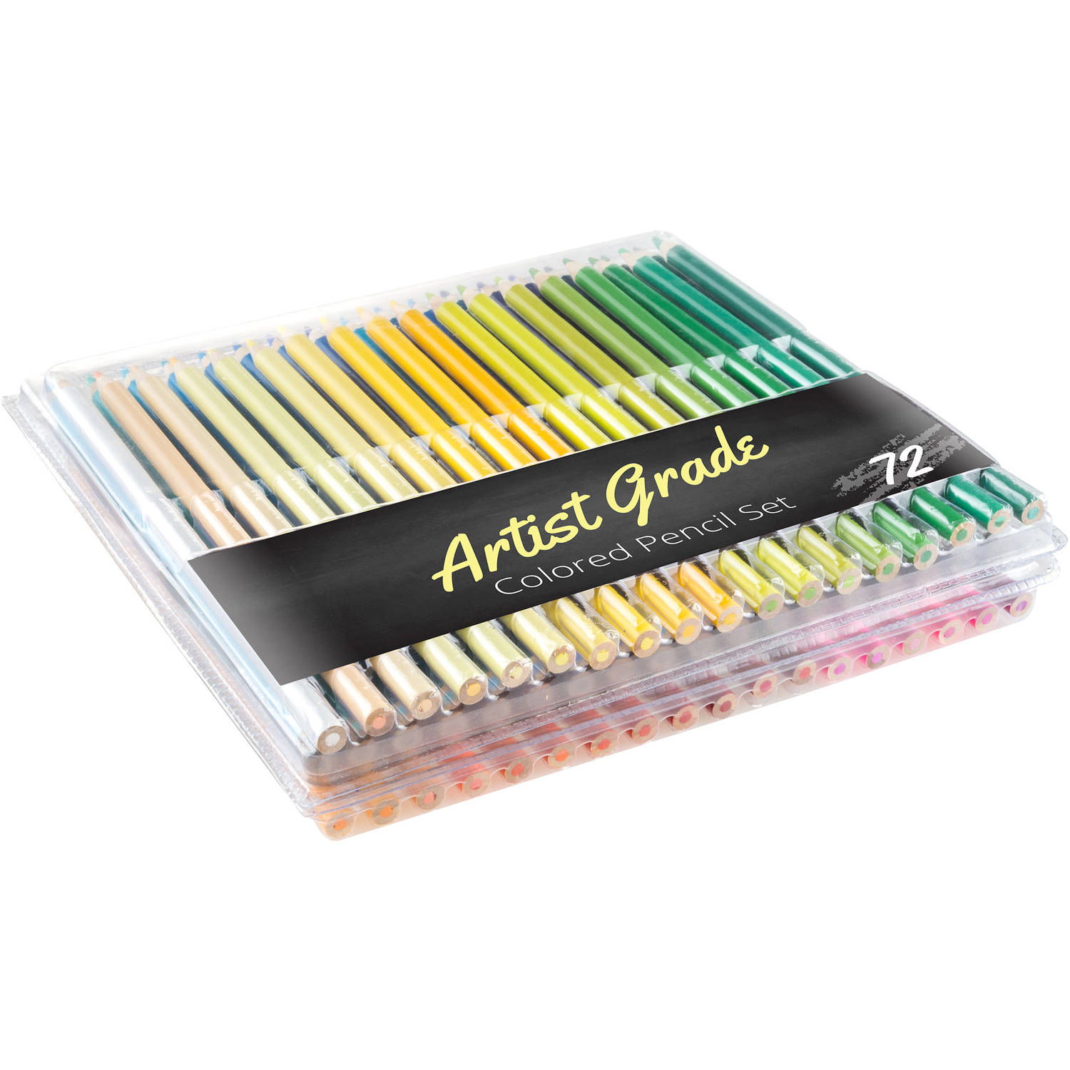 Colored Pencil Set 72-Count Pre-Sharpened Adult Coloring Drawing Sketch Art in Case by... by Trademark Global LLC