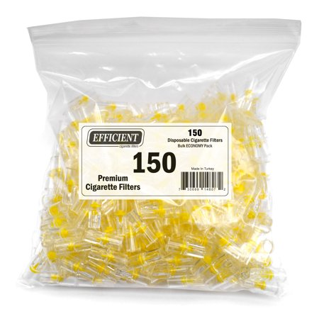 Efficient Disposable Cigarette Filters - Bulk Economy Pack (150 Per (Best Disposable Cigarette Filters)