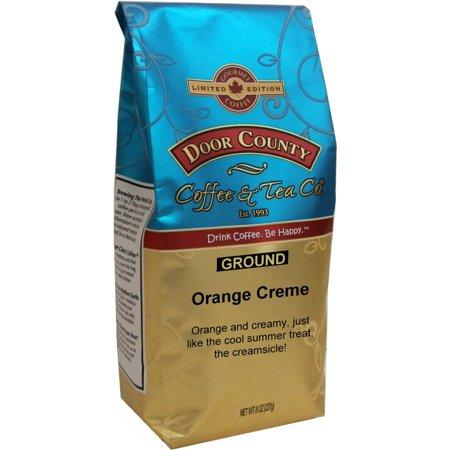 Door County Coffee Orange Creme Flavored Specialty Coffee - 8oz - Orange Flavored Coffee