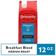 Community Coffee Breakfast Blend Medium Roast Ground 12 oz Gable Top