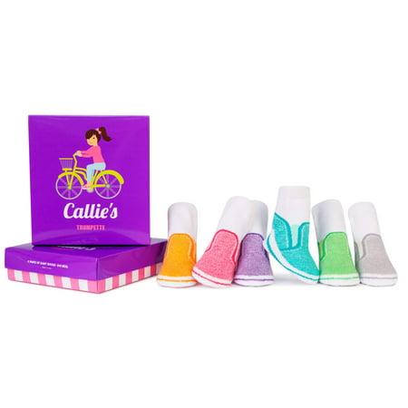 Baby Girls' Callie's Assorted Socks 6-pack (0-12 mo.)