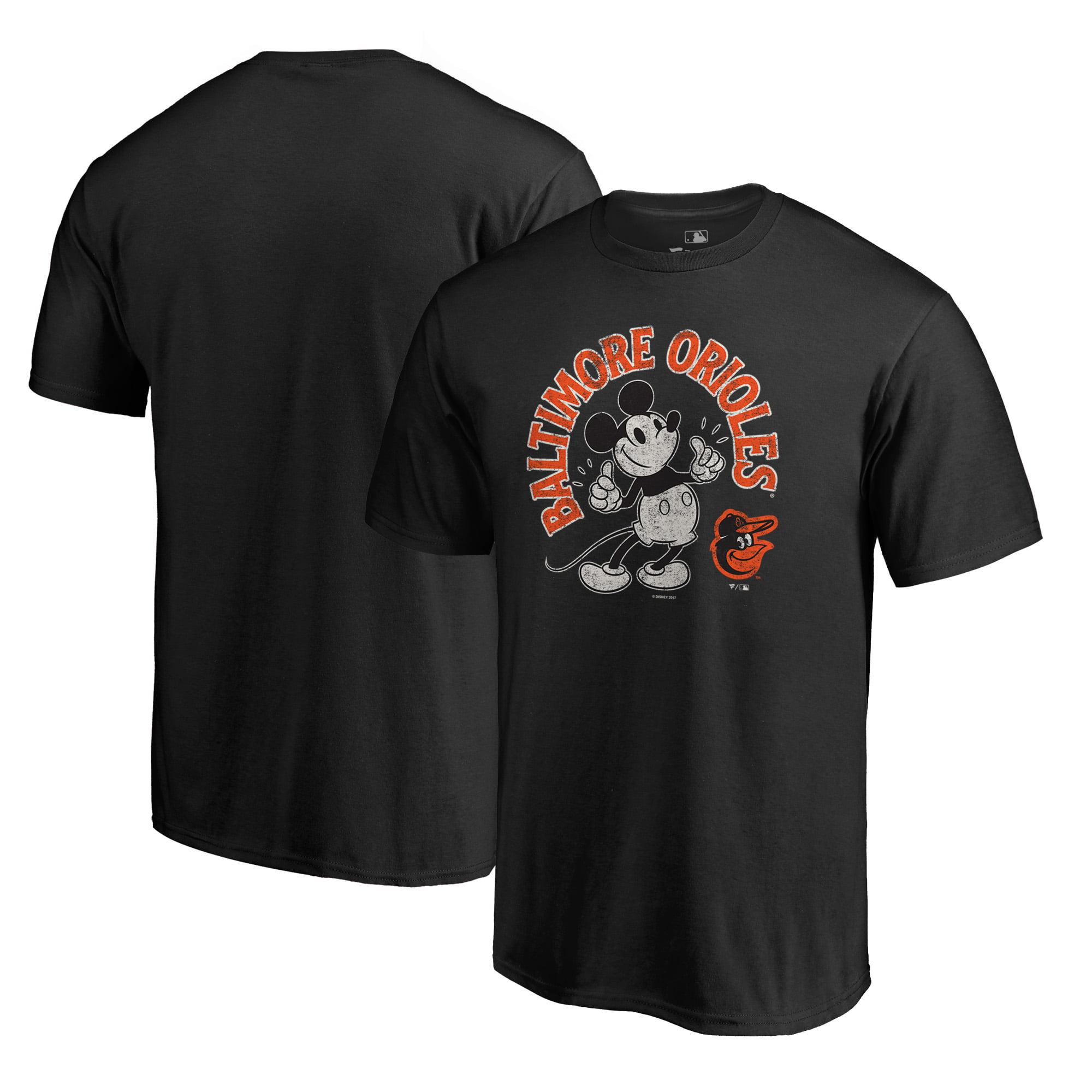 Baltimore Orioles Fanatics Branded Disney Mickey's True Original Arch T-Shirt - Black