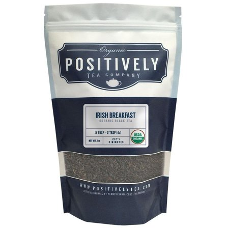 Positively Tea Company, Organic Irish Breakfast, Black Tea, Loose Leaf, USDA Organic, 4 oz.