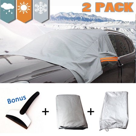 High Fixed Windshield ([2 Pack]Car Windshield Snow Cover+Ice Scraper,iClover 85