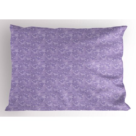 Lilac Pillow Sham Romantic Syringa Flower Bouquets Picture Fresh Botanical Garden in Early Spring Season, Decorative Standard Size Printed Pillowcase, 26 X 20 Inches, Lilac, by Ambesonne ()