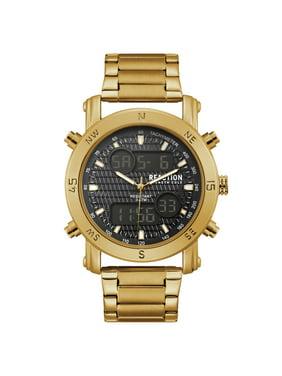 Kenneth Cole Reaction Men's Silver Case Black Dial Silver Bracelet Watch