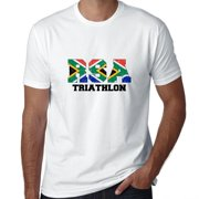 South Africa Triathlon - Olympic Games - Rio - Flag Men's T-Shirt