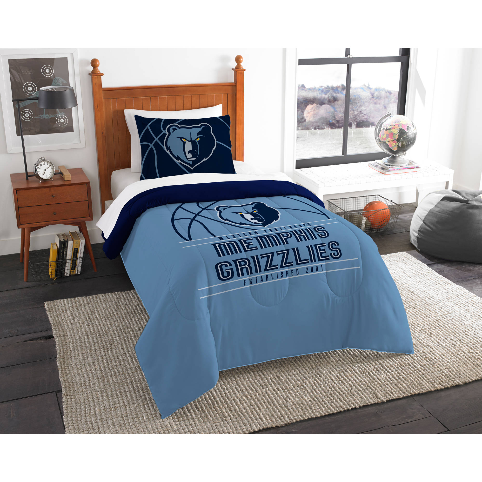"NBA Memphis Grizzlies ""Reverse Slam"" Bedding Comforter Set"