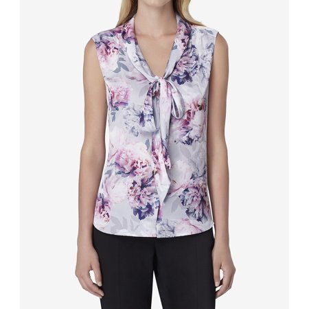 Womens Small Petite Floral-Print Blouse PS - Elie Tahari Women Shirts
