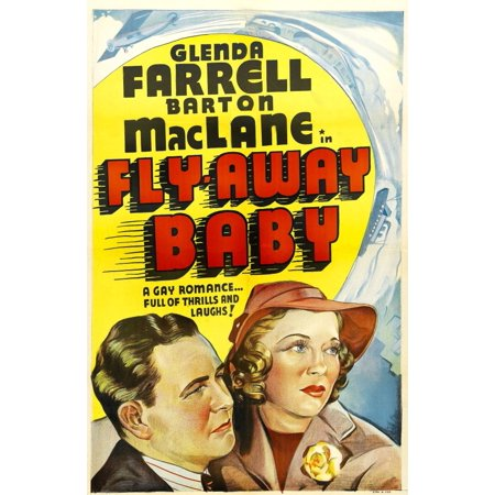 Fly Away Baby Us Poster Art From Left Barton Maclane Glenda Farrell 1937 Movie Poster Masterprint