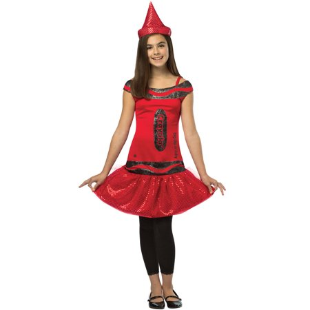 Crayola Glitz and Glitter Big Dip O Ruby Dress Child Costume (7-10) - Diy Scary Halloween Costumes For Teenagers