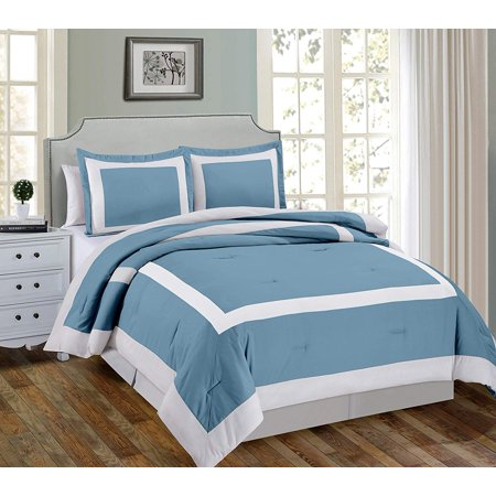Chezmoi Collection Sheraton 3-Piece Hotel Style Square Framed Bedding Comforter Set Locker Room Collection Comforter