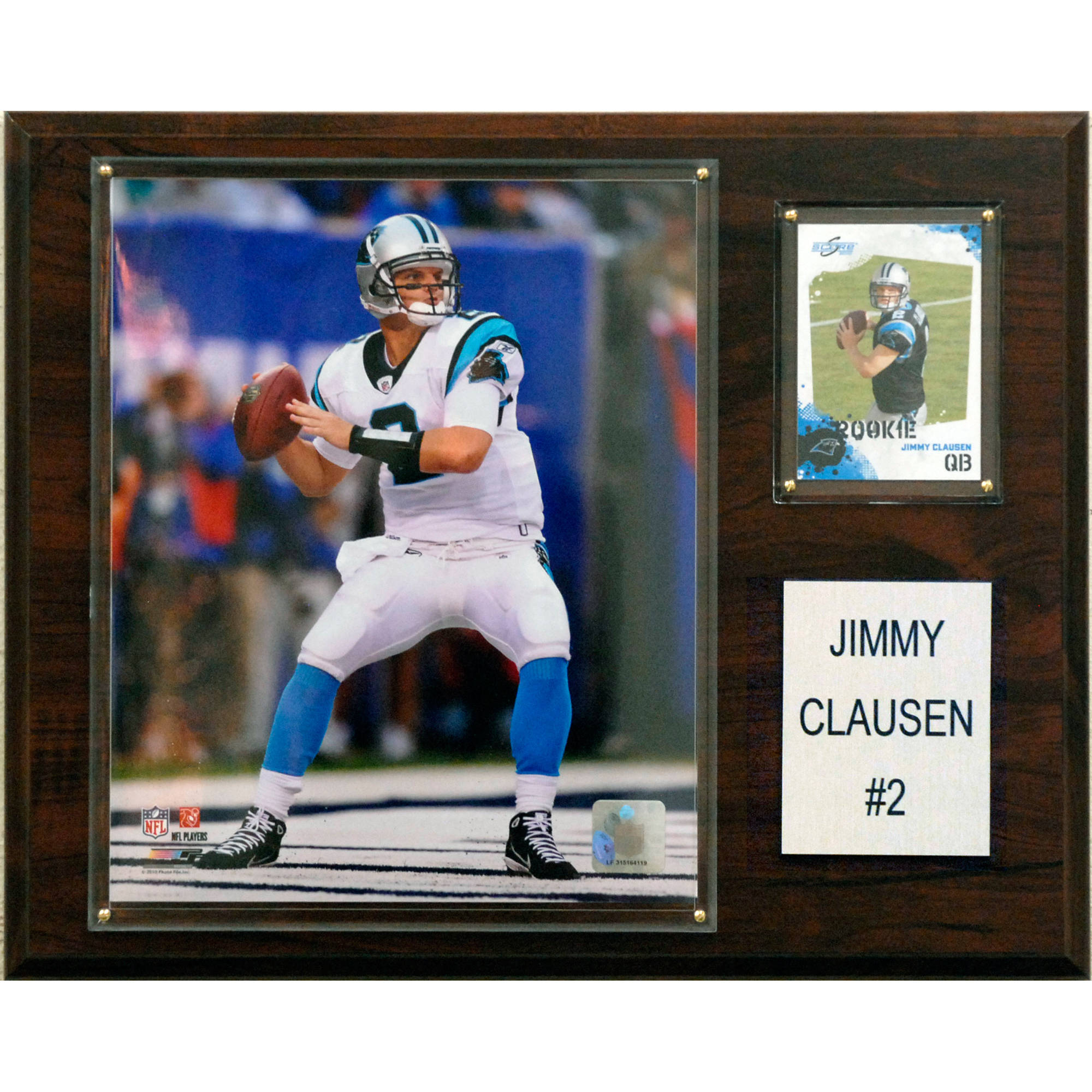 C&I Collectables NFL 12x15 Jimmy Clausen Carolina Panthers Player Plaque