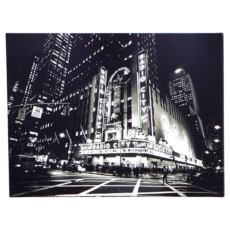 Metallic City Lights Canvas Wall Art - 32W x 24H in.