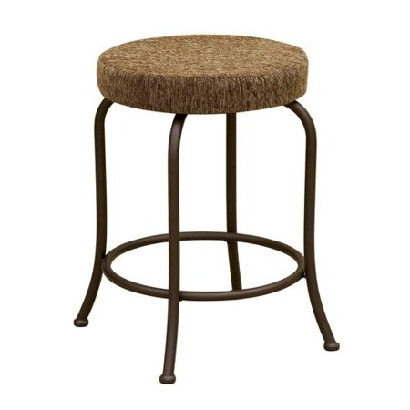 29 39 39 backless round bar stool with cushion seat in brown walmar