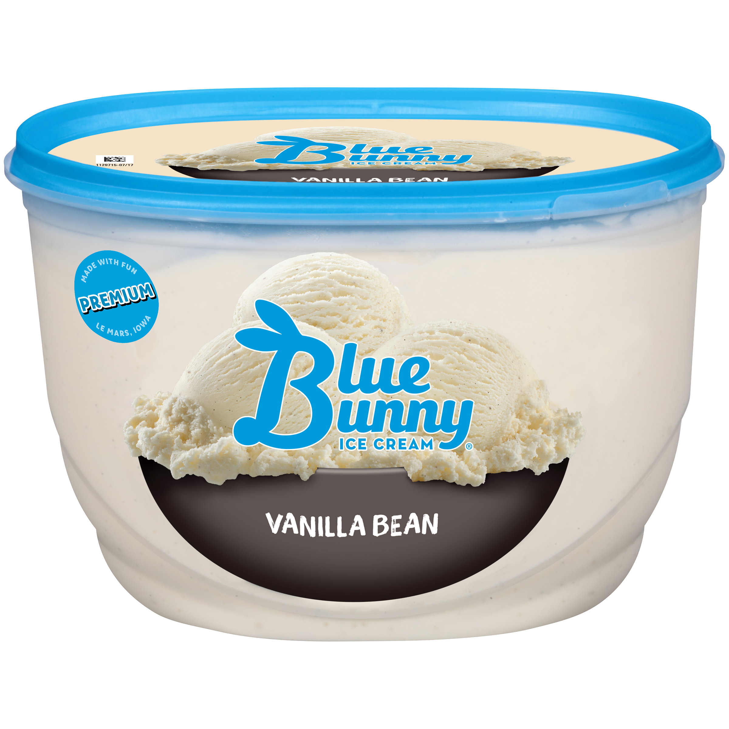 Blue Bunny Vanilla Bean Ice Cream, 48 fl oz