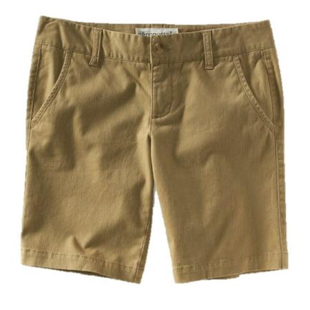 Aeropostale Women's Khaki Bermuda Shorts