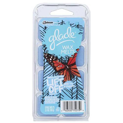 Glade Lift Off White Tea & Magnolia Wax Melts Refill, 3.1 oz, 8 ct