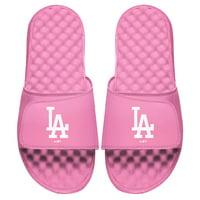 Los Angeles Dodgers ISlide Youth Primary Logo Slide Sandals - Pink