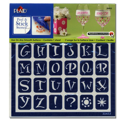 plaid adhesive stencil - alphabet - walmart