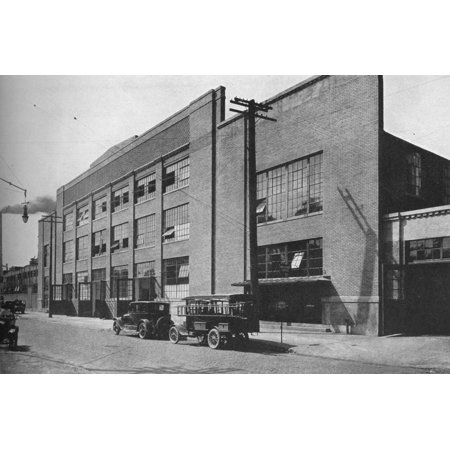 Fisher Body Plant (Exterior of kiln and mill building, West End Plant, Fisher Body Company, Detroit, Michigan, 1923 Print Wall Art )