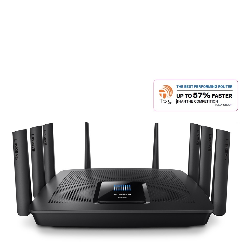 Linksys Certified Refurbished Max-Stream AC5400 Tri Band Wireless Router, Works with Amazon Alexa (EA9500-RM2)
