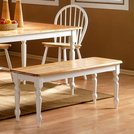 Boraam Farmhouse Dining Bench White And Natural