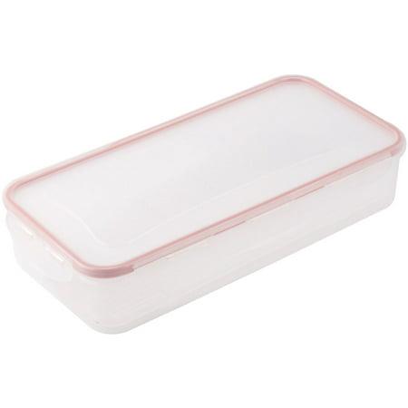Home Kitchen Plastic Rectangular Shape Airtight Food Case