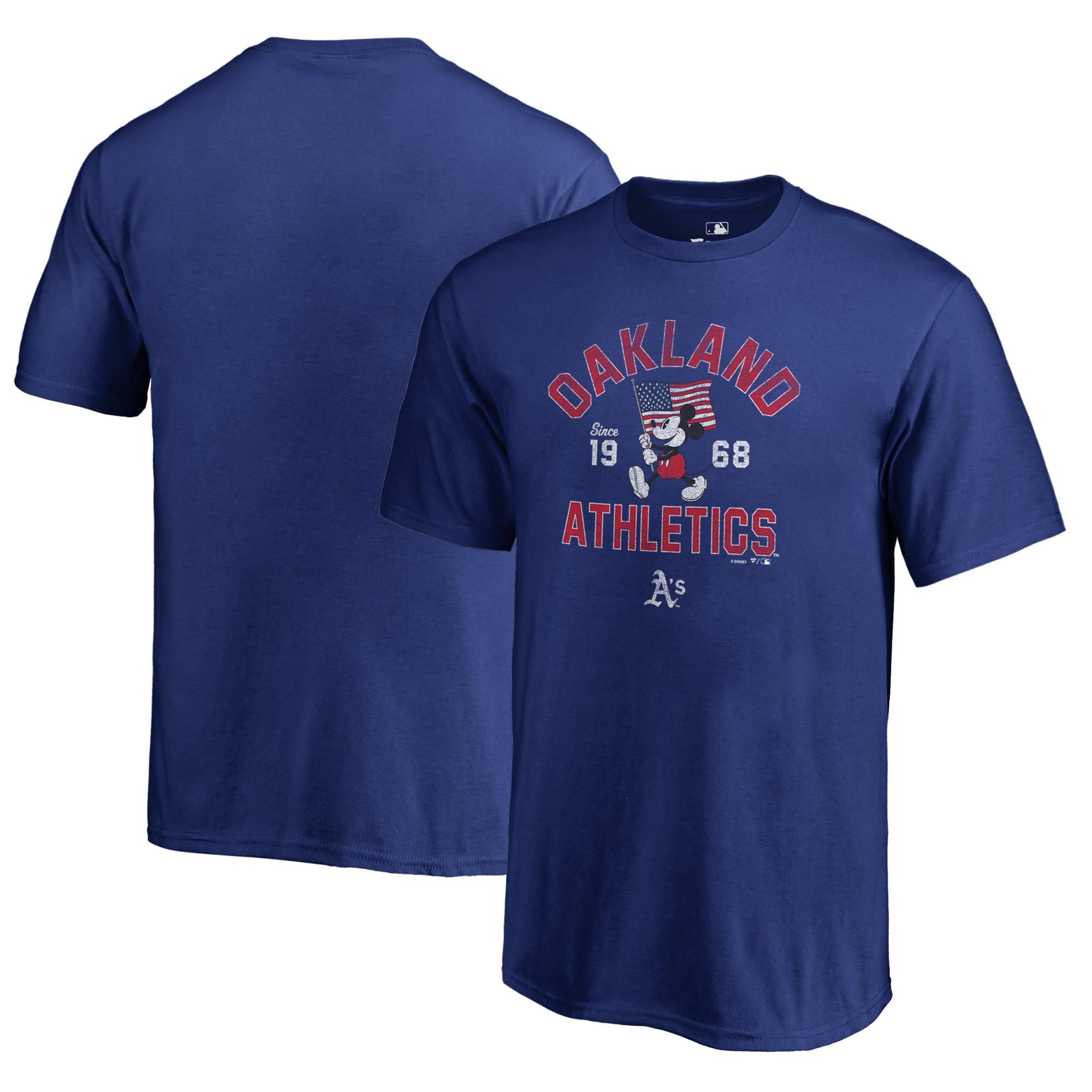 Oakland Athletics Fanatics Branded Youth Disney American Icon T-Shirt - Royal