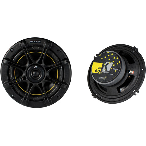 "Kicker DS60 6.5"" (160mm) Coaxial Speakers (Pair of Speakers)"