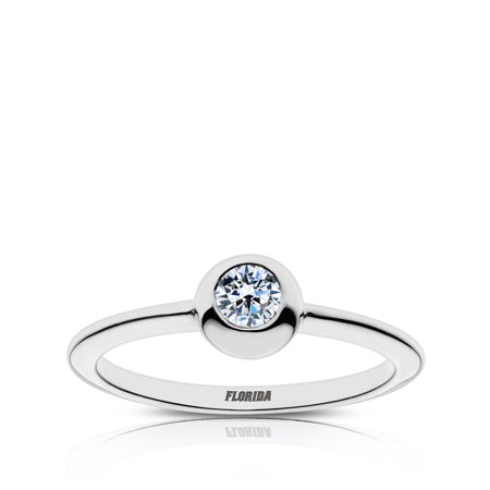 University of Florida Diamond Ring In Sterling Silver Design by BIXLER