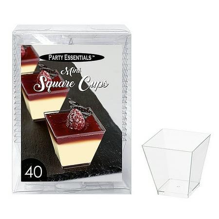 Square Plastic Cups (1 - Party Essentials 3.5 Oz. Mini Square Square Cups - Clear 40)