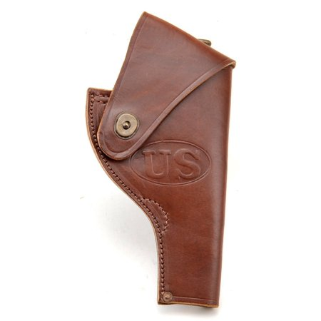 US WW2 Smith & Wesson Victory Model Revolver Holster in Brown Leather .38 Special Marked JT&L 43