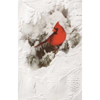 """Set of 16 Winter Cardinal on a Pine Branch Christmas Greeting Card 5.38"""" x 8.25"""""""