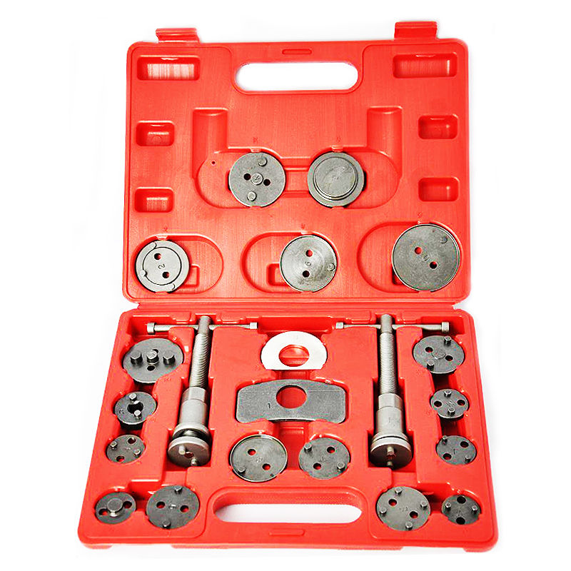 GHP 21-Piece Universal Brake Caliper Tool Kits with Thrust Bolt Assemblies & Case
