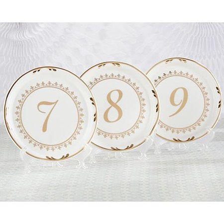 Tea Time Vintage Plate Table Numbers 7-12 ()