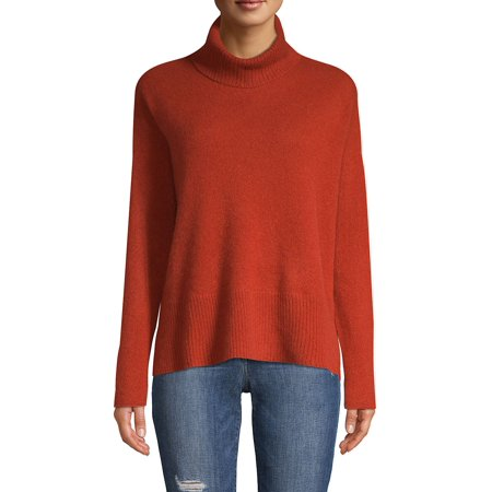 Ribbed Cowlneck Cashmere Sweater ()