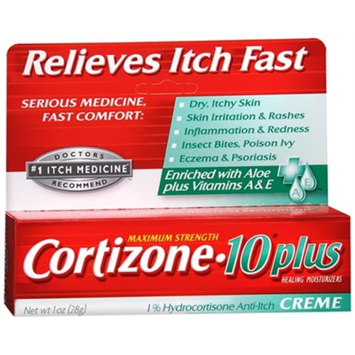 Cortizone-10 Plus Maximum Strength Anti-Itch Creme 1 oz (Pack of 3)