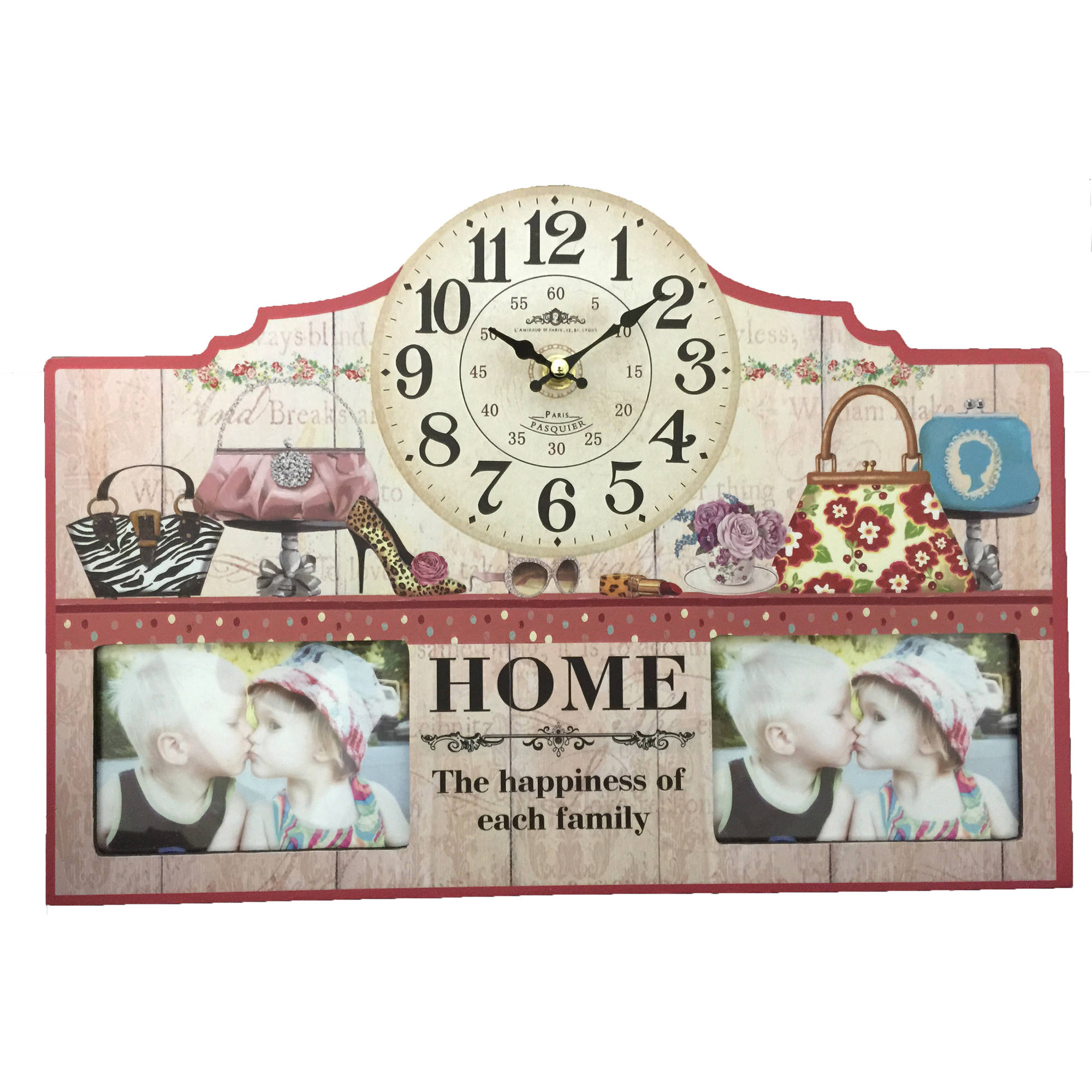 Purse Clock with 3x5 Frames