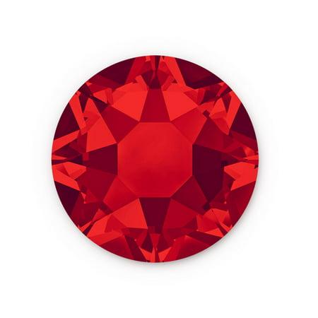 Siam Swarovski Hot Fix Light (Swarovski Xilion Rose Hot Fix Crystals 2028 4.7mm Light Siam (Package of 10))