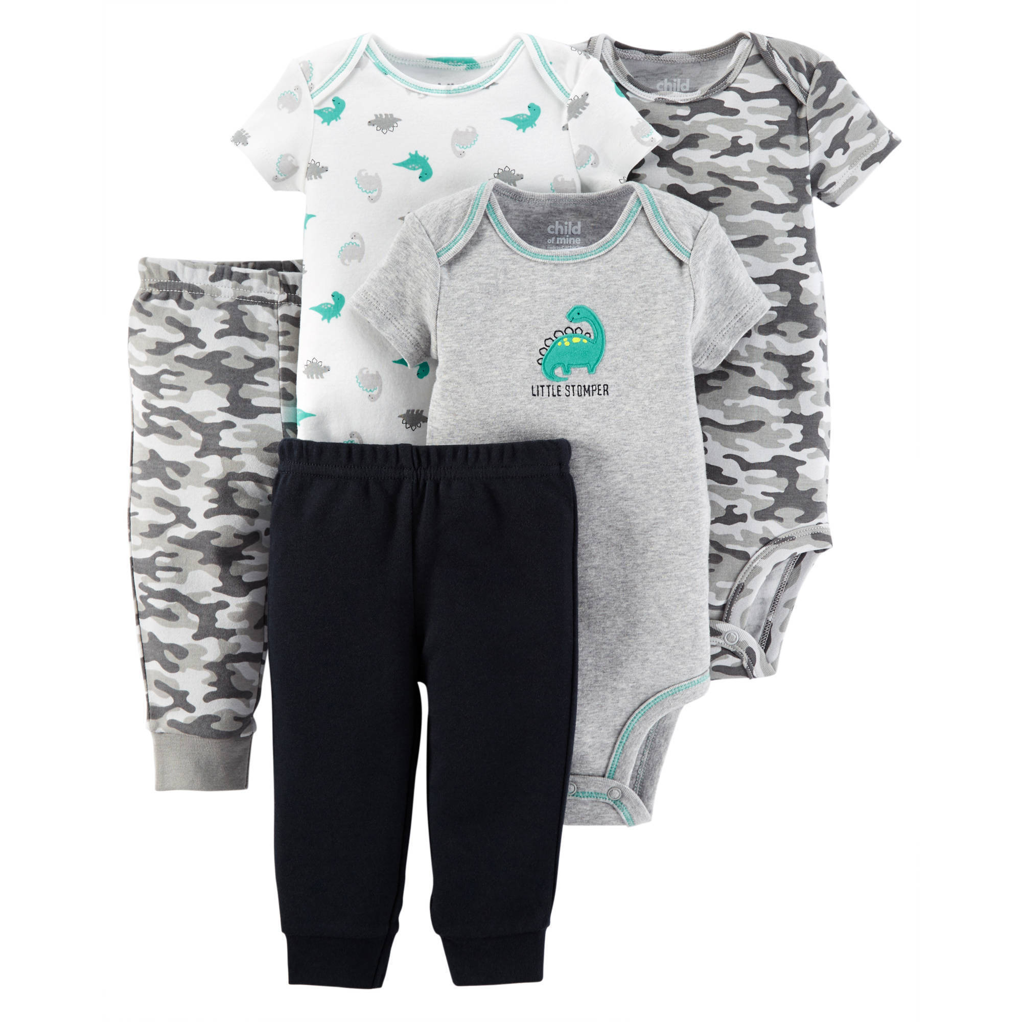 Child Of Mine by Carter's Newborn Baby Boy Bodysuits and Pants, 5-Piece Set