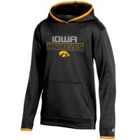 Youth Russell Athletic Black Iowa Hawkeyes Pullover Hoodie