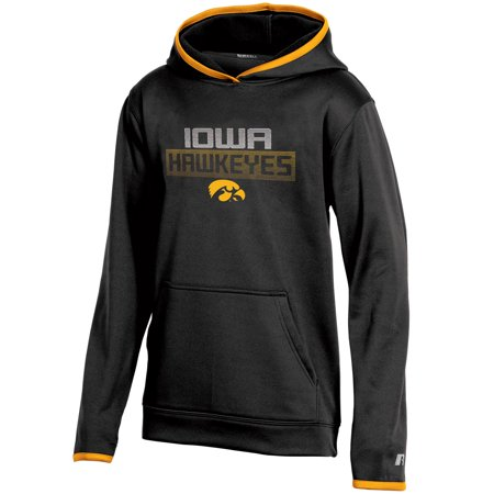 Youth Russell Athletic Black Iowa Hawkeyes Pullover Hoodie (Iowa State Sweatshirt Youth)