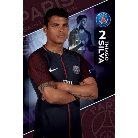 Paris Walnut - Paris Saint Germain - PSG - Soccer Poster / Print (Thiago Silva - Season 2017 / 2018)
