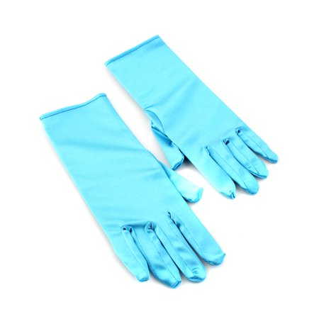 1 Pair Kids Girls Princess Queen Gloves Cosplay Halloween Party Costume - Princess Jasmine Halloween Costume For Kids