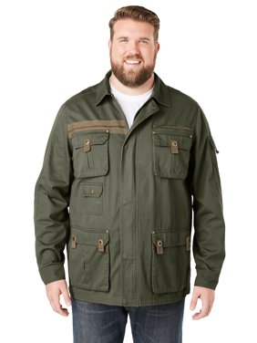 Boulder Creek Men's Big & Tall Boulder Creek Multi-pocket Twill Jacket