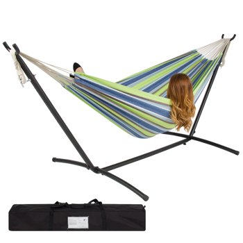 Double Hammock with Steel Stand Carrying Case